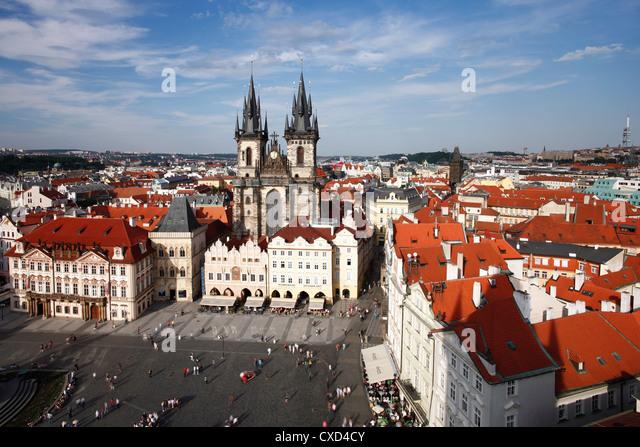 Church of Our Lady vor Tyn (Teynkirche) in der Altstadt (Stare Mesto), Prag, Tschechische Republik, Europa - Stock-Bilder