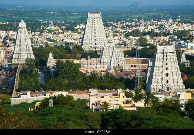 Arunachaleswar Tempel, Tiruvannamalai, Tamil Nadu, Indien, Asien Stockbild