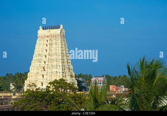 Ramanatha Swami, Rameswaram, Tamil Nadu, Indien, Asien Stockbild