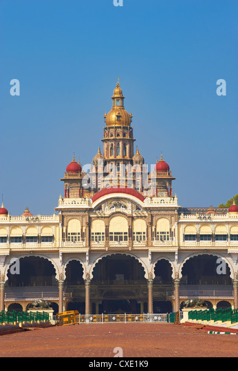Maharaja Palast, Mysore, Karnataka, Indien, Asien Stockbild