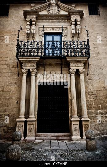 Aufwändige Tür, Ronda, Andalusien, Spanien, Europa Stockbild