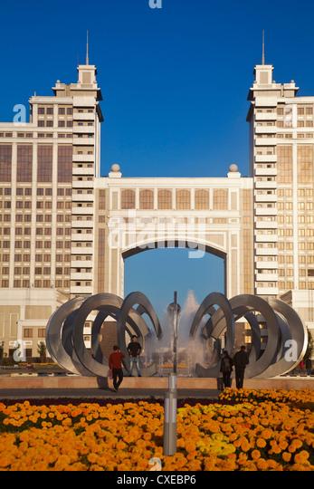 KazMunaiGas Gebäude beherbergt die Öl- und Gas-Ministerium, Astana, Kasachstan, Zentralasien, Asien Stockbild
