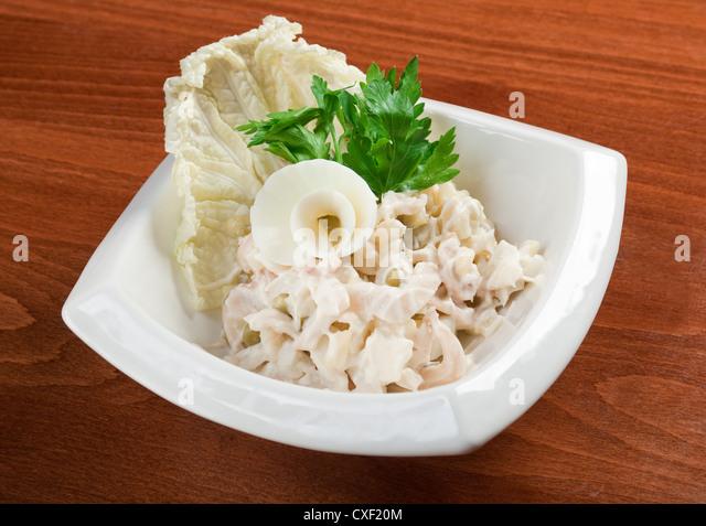 Meeresfrüchte Salat. Stockbild