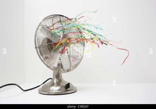 Ventilator mit Luftschlangen Stockbild