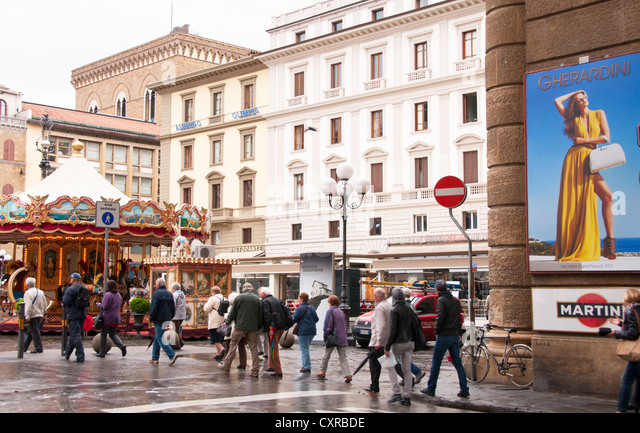 Die Republikaner Stadtplatz in Florenz, Italien Stockbild