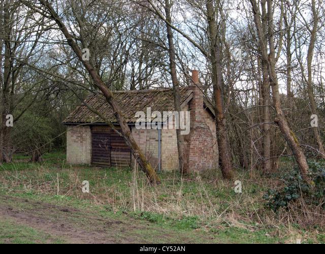 altes Haus nun als ein Wald Hütte in Brampton Holz Brampton Huntingdon Cambridge verwendet Stockbild