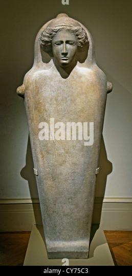 Marmor-Menschenaffen Sarkophag 5. Jh. v. Chr. Kultur Graeco phönizischen 222 cm Phoenicia semitischen Griechisch Stockbild