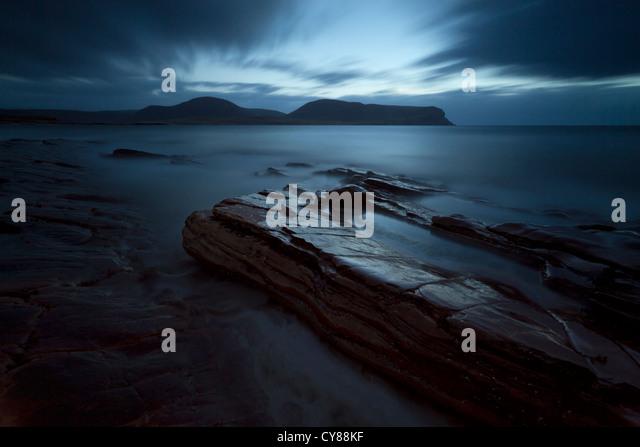 Verträumte Seelandschaft auf Orkney Stockbild