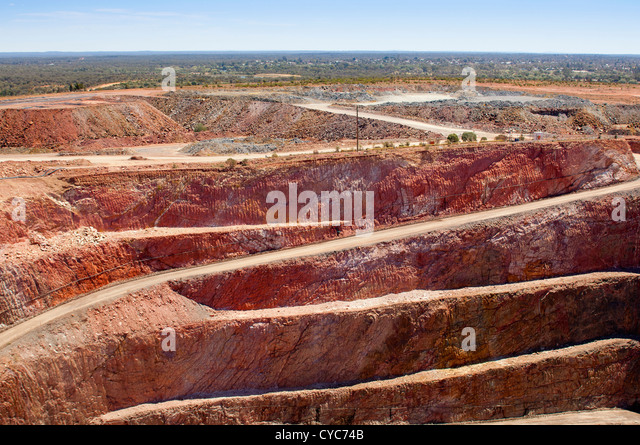 Bergbau in Australien am Standort Cobar mine Stockbild