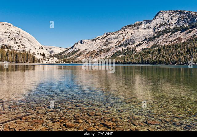 Tenaya Lake, Yosemite-Nationalpark, Kalifornien, USA Stockbild