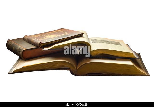 Silhouette von antiquarischen Büchern. Digitale Fotografie Stockbild