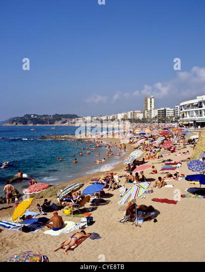 8356. Lloret de Mar, Costa Brava, Spanien, Europa Stockbild