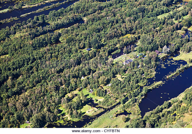Den Niederlanden, Maarssen. Künstlicher See namens Maarsseveense Plassen. Freizeit und Wassersport-Bereich. Stockbild
