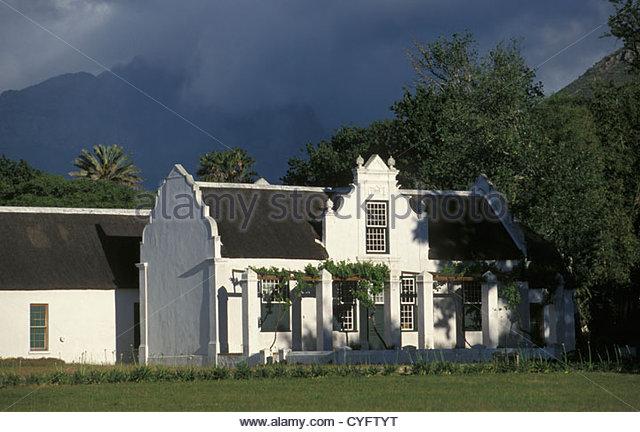 Südafrika, Western Cape Province, Stellenbosch, Winelands in der Nähe von Kapstadt, Haus. Architektur, Stockbild