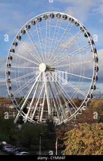 Große Stadt Attraktionen globale York Riesenrad England UK Stockbild