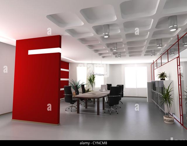 3d render stockfotos 3d render bilder alamy - Buroeinrichtung modern ...