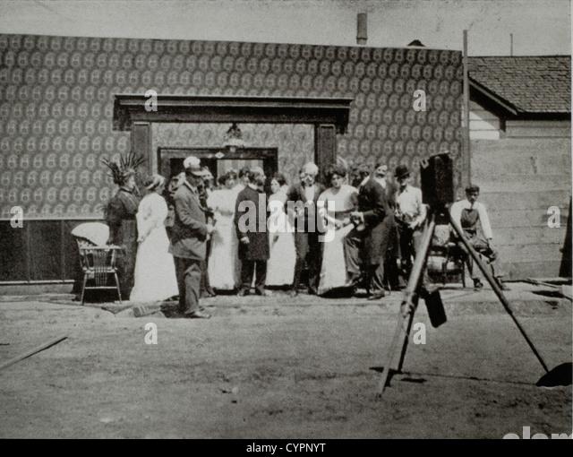 Film-Set, Selig Studio erste Filmstudio in Kalifornien, 1908 Stockbild