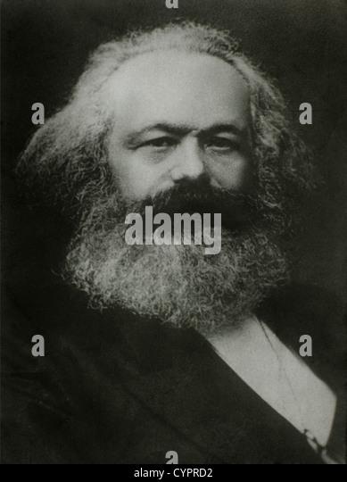 Karl Marx (1818-1883), deutscher Philosoph, 1875, Porträt Stockbild