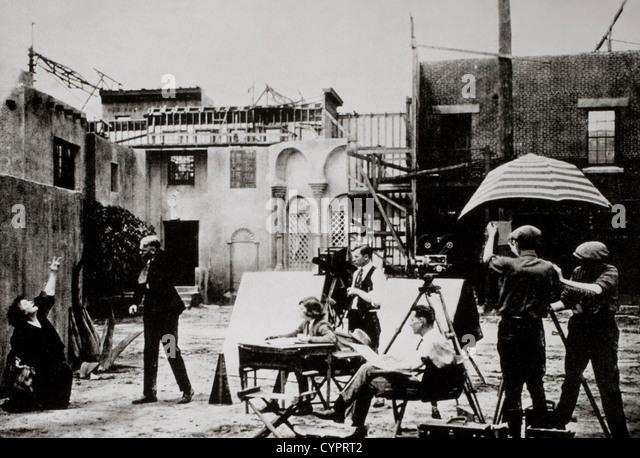 Film-Set, Hollywood, Kalifornien, USA, Anfang des 20. Jahrhunderts Stockbild