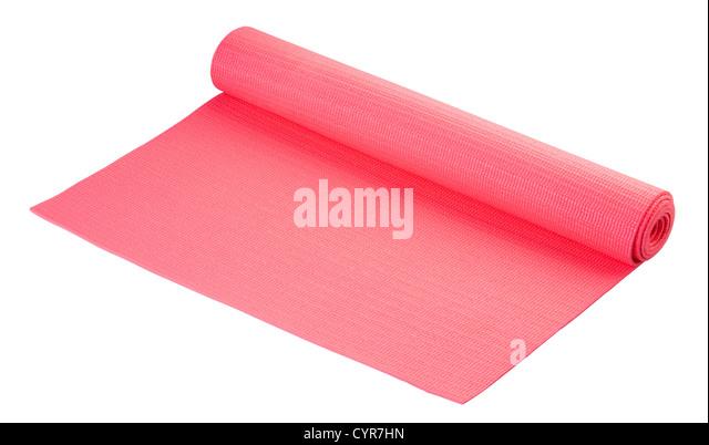 Yoga Matte weich und großes Werkzeug für Ihre Bewegung oder Erholung Stockbild