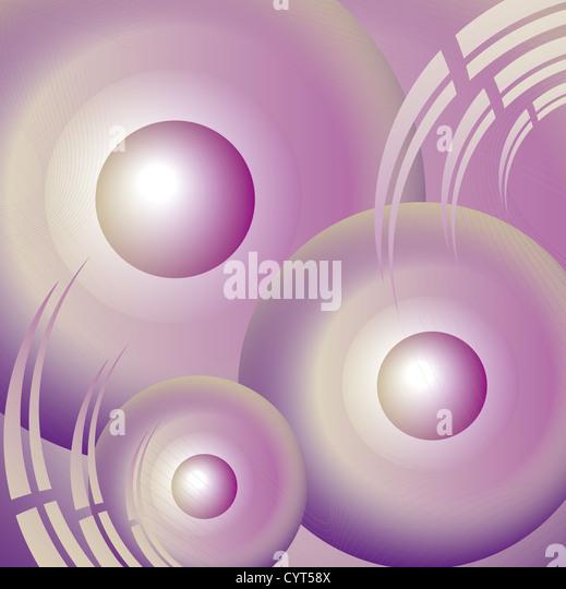 lila abstrakt Kreise und Linien in die Zukunft Stockbild