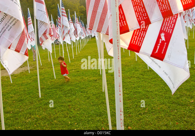 Flaggen der Helden Flags of Honor Hommage an die Opfer des 11. September © Stacy Walsh Rosenstock Stockbild