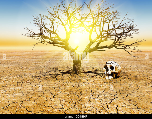 Abbildung der globalen Erwärmung Stockbild