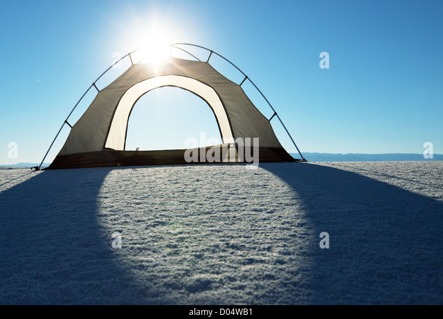White Sands-Park in den USA Stockbild