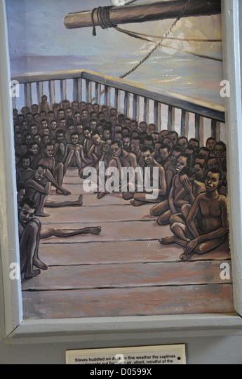 Museum zur Erinnerung an die Sklaverei in Gambia. Gambia Stockbild