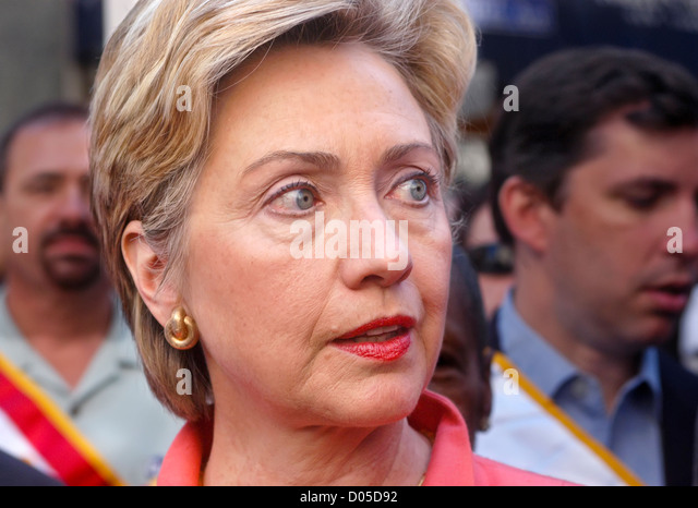 Senator Hillary Rodham Clinton am Labor Day Parade. © Stacy Walsh Rosenstock Stockbild