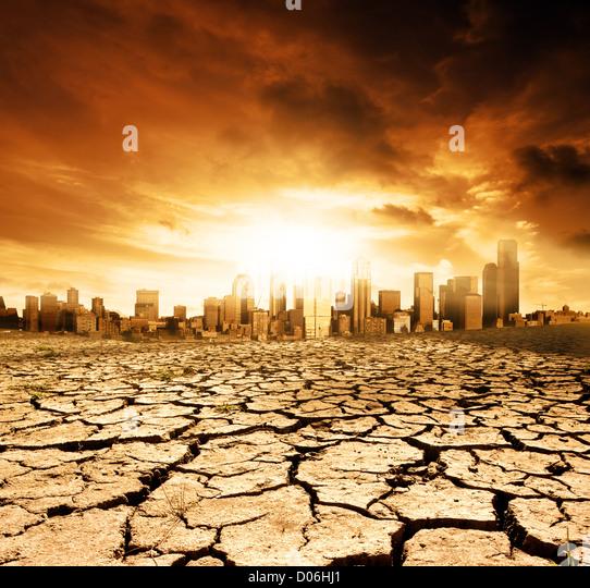 Globale Erwärmung Konzept Bild Stockbild