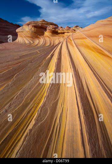 Felsformationen in der North Coyote Buttes-Einheit der Vermillion Cliffs National Monument Stockbild