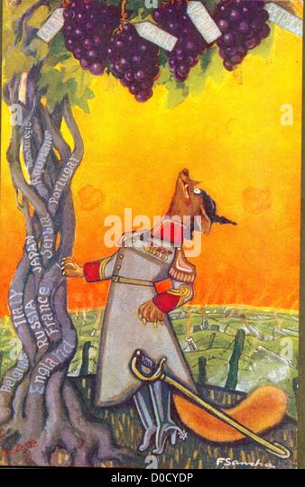 Der Fuchs und die Trauben von Aesop Fabeln auf dem neuesten Stand des Künstlers F Sancha Stockbild