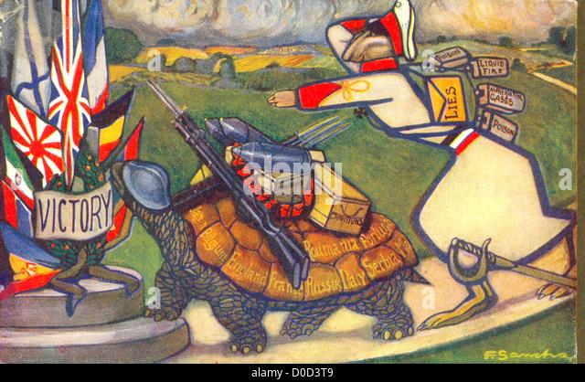 Der Hase und die Schildkröte von Aesop Fabeln auf dem neuesten Stand des Künstlers F Sancha Stockbild