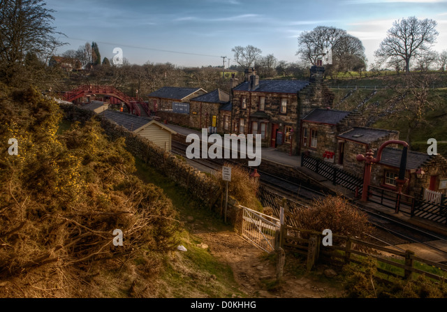 Goathland Station auf den North York Moors Museumsbahn. Stockbild