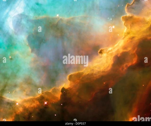 Sterne in der Schwan-Nebel Stockbild