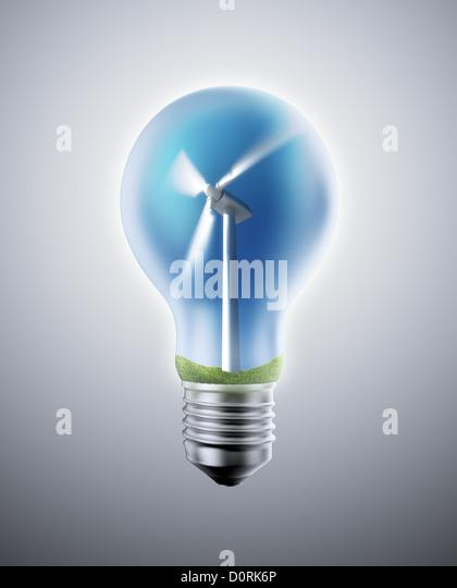 Wind-Energie-Konzept Stockbild