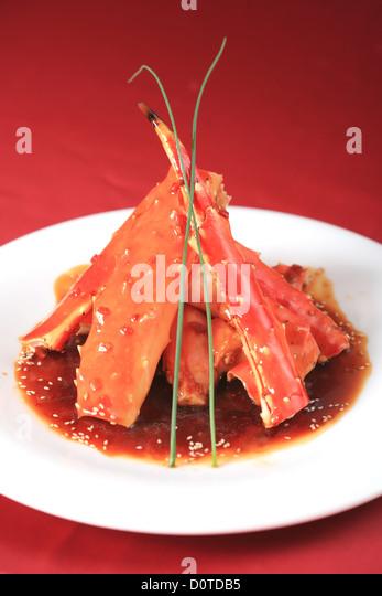 Gericht aus Krabben, Meeresfrüchte Stockbild