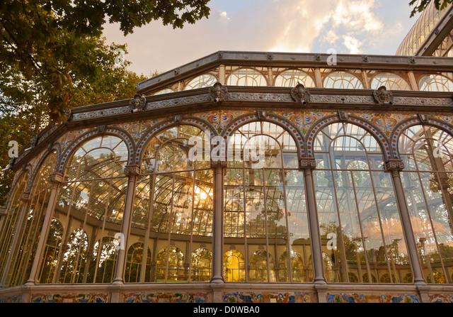 Crystal Palace in Madrid Spanien Stockbild