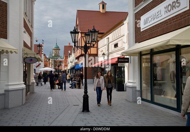 shopping outlet germany stockfotos shopping outlet. Black Bedroom Furniture Sets. Home Design Ideas