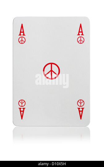 Ass Spielkarten Frieden Stockbild