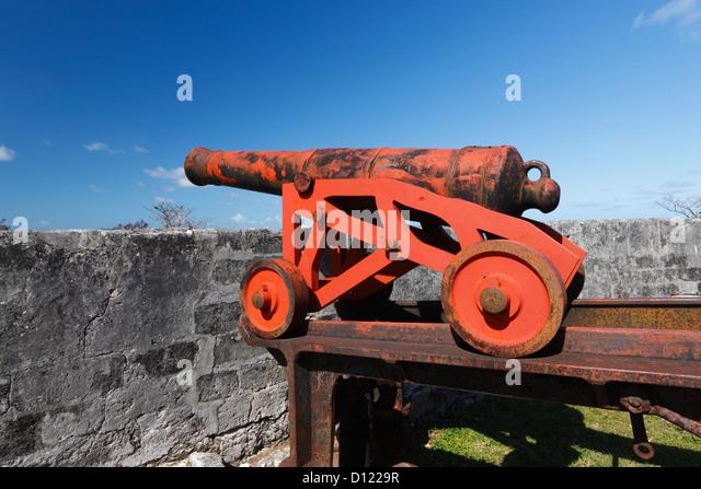 Canon - Fort Nassau Fort Fincastle Stockbild