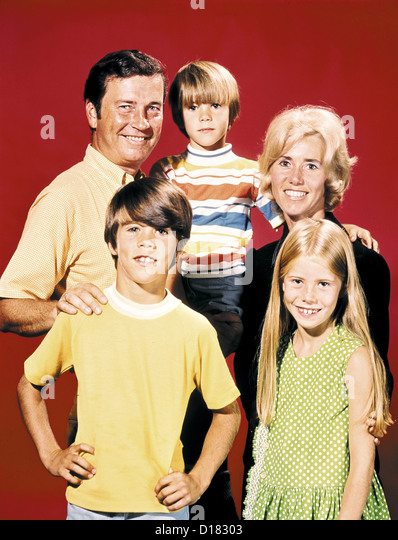 Vintage Familienporträt Stockbild