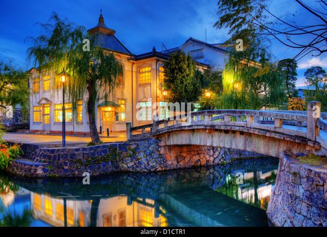 Berühmte Brücke und Canal Kurashiki, Japan. Stockbild