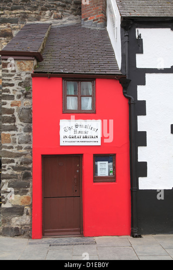 Kleinste Haus in Großbritannien, Conwy, North Wales, Wales, Vereinigtes Königreich, Europa Stockbild