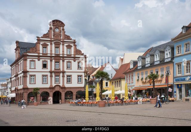 Das Rathaus auf dem Hauptplatz, Speyer, Rheinland-Pfalz, Deutschland, Europa Stockbild