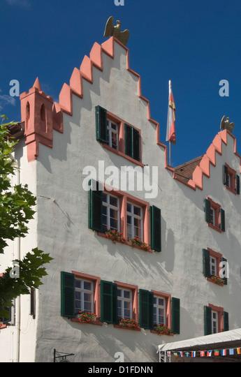 Die Fassade aus dem 17. Jahrhundert Rathaus, Oppenheim, Wein, Rheinland-Pfalz, Deutschland, Europa Stockbild