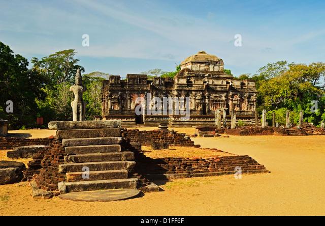 Antiken Stadt Polonnaruwa, UNESCO-Weltkulturerbe, Polonnaruwa, Sri Lanka, Asien Stockbild