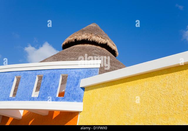 Architektur in Puerta Maya, Cozumel Insel, Quintana Roo, Mexiko, Nordamerika Stockbild
