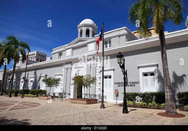 Museum, Puerto Rico Tourism Company, Paseo De La Princesa, Old San Juan, San Juan, Puerto Rico, West Indies - Stock-Bilder